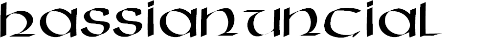 Preview image for HassianUncial Font