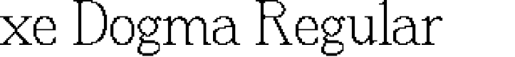 Preview image for xe Dogma Regular Font