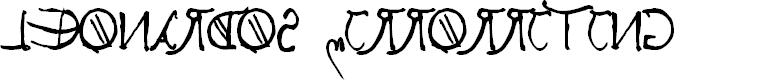 Preview image for Leonardos mirrorwriting  Bold Font