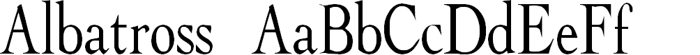 Preview image for Albatross Font