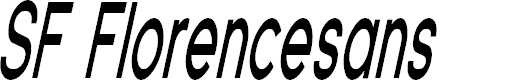 Preview image for SF Florencesans Comp Bold Italic
