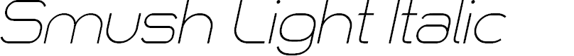 Preview image for Smush Light Italic