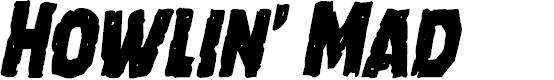 Preview image for Howlin' Mad Condensed Italic