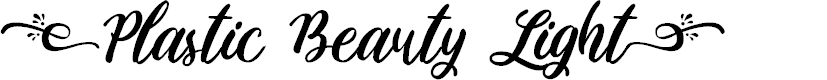 Preview image for Plastic Beauty Light Font