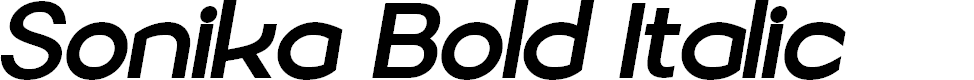 Preview image for Sonika PERSONAL USE Bold Italic