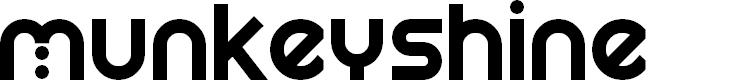Preview image for Munkeyshine Font