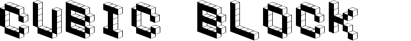 Preview image for DemonCubicBlockFont Black