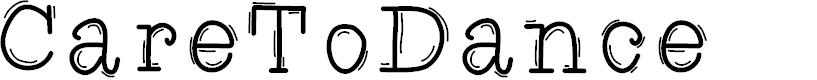 Preview image for CareToDance Font