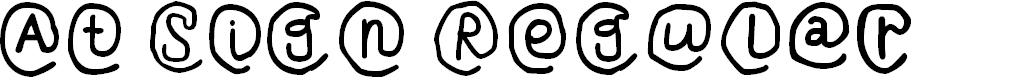 Preview image for At Sign Regular Font