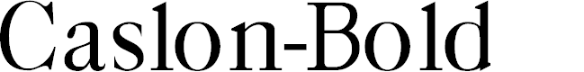 Preview image for Caslon-Bold