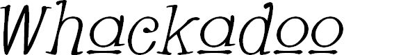Preview image for Whackadoo Upper Italic