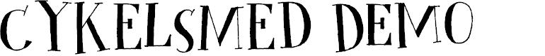 Preview image for Cykelsmed DEMO Regular Font