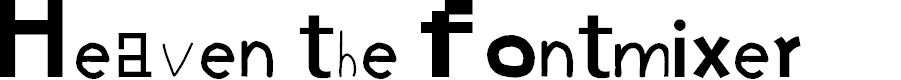 Preview image for Heaven the fontmixer Font