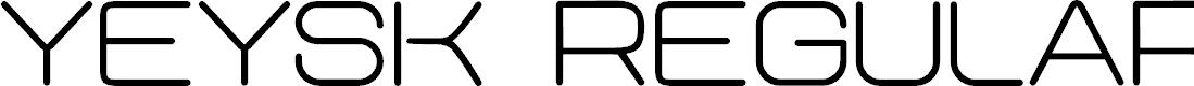 Preview image for Yeysk Regular Font