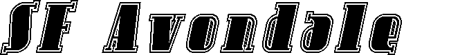 Preview image for SF Avondale Inline Italic