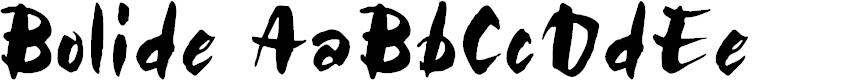 Preview image for Bolide Regular Font