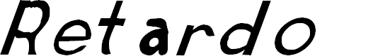 Preview image for Retardo Italic