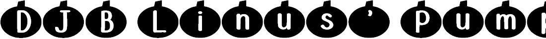 Preview image for DJB Linus' Pumpkin Font