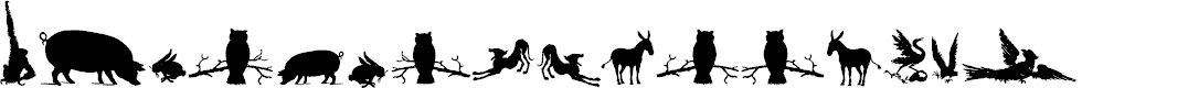 Preview image for AnimalSilhouettesThree Font