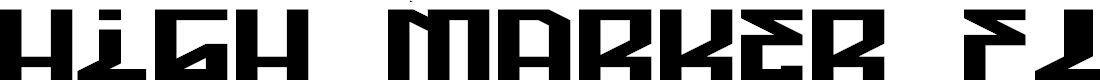 Preview image for High Marker Flat Regular Font