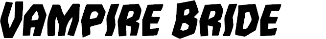 Preview image for Vampire Bride Bold Italic