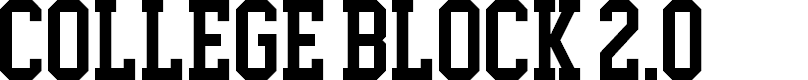 Preview image for College Block 2.0 Font