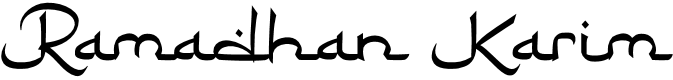 Preview image for RamadhanKarim Font