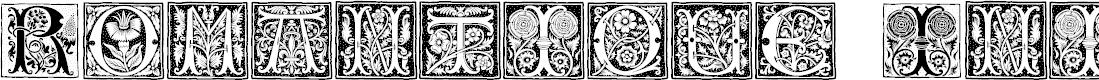 Preview image for RomantiqueInitials Font