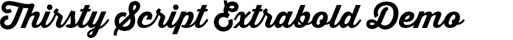 Preview image for Thirsty Script Extrabold Demo Font