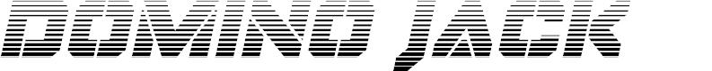 Preview image for Domino Jack Gradient Italic Italic