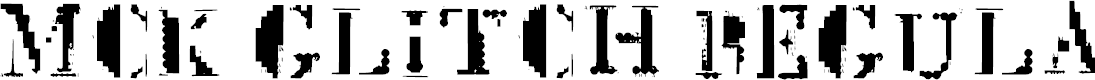 Preview image for Mck Glitch Regular Font