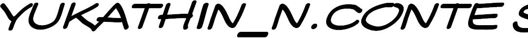 Preview image for YUKATHIN_N.CONTE SMILE Font