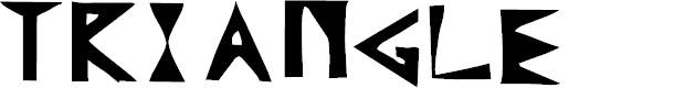 Preview image for Triangle Font