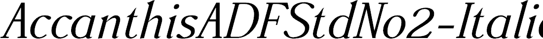 Preview image for AccanthisADFStdNo2-Italic