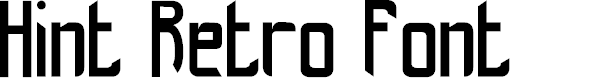 Preview image for hint-retrò_free-version Font