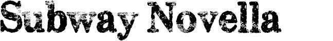 Preview image for Subway Novella Font