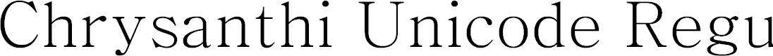 Preview image for Chrysanthi Unicode Regular
