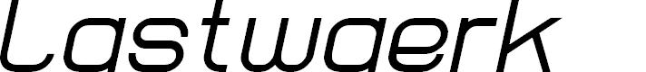 Preview image for Lastwaerk regular Oblique