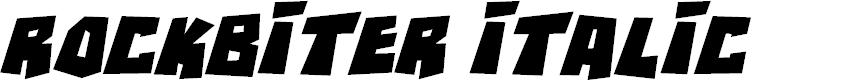 Preview image for RockBiter Italic