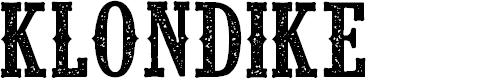 Preview image for CF Klondike PERSONAL Regular Font