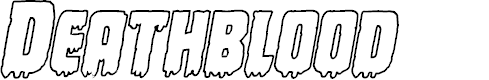 Preview image for Deathblood Outline Italic