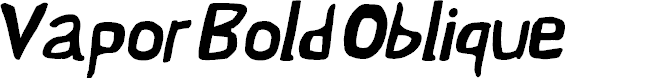 Preview image for Vapor Bold Oblique