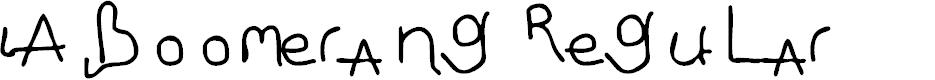 Preview image for LA boomerang Regular Font