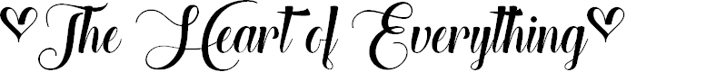 Preview image for The Heart of Everything Demo Font