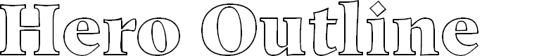 Preview image for Hero Outline Font