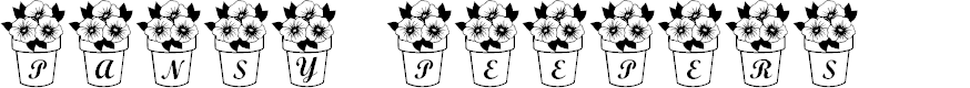 Preview image for LCR Pansy Peepers Font