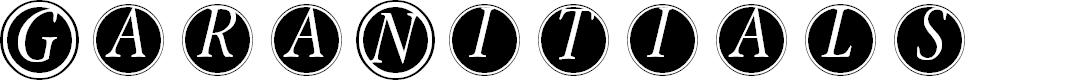 Preview image for GaraNitialsFramed Font