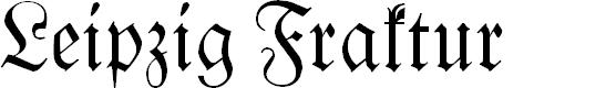 Preview image for Leipzig Fraktur Normal Font