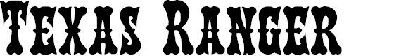 Preview image for Texas Ranger Regular Font