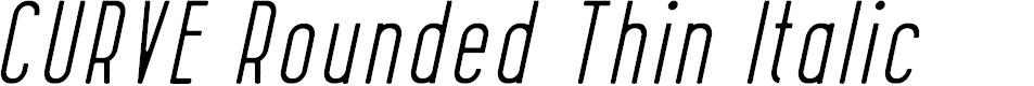 Preview image for CURVE Rounded Thin Italic